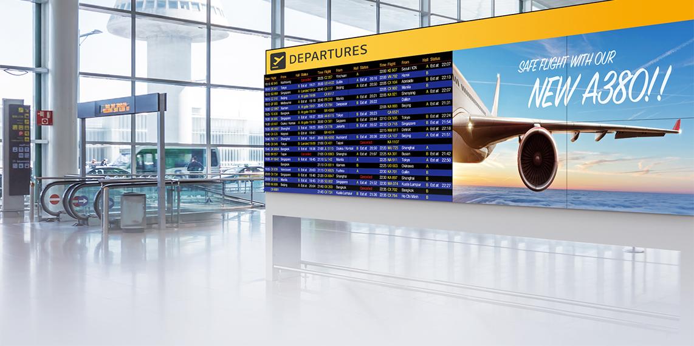 Giải pháp màn hình ghép chất lượng cao cho sân bay