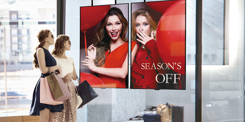 Nâng cấp cửa hàng thời trang bằng hệ thống màn hình quảng cáo chuyên dụng