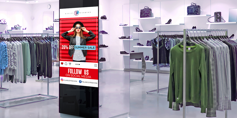 Nâng tầm trải nghiệm cho khách hàng với màn hình quảng cáo chân đứng kỹ thuật số