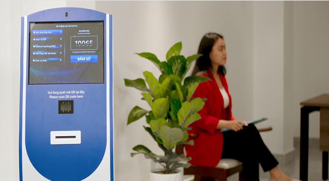 Giải pháp Kiosk lấy số thứ tự tự động hiện đại